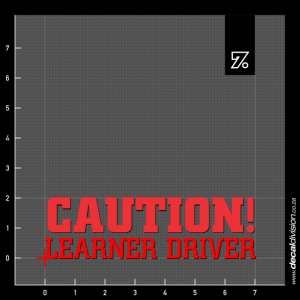 Caution Learner Driver Sticker - Short