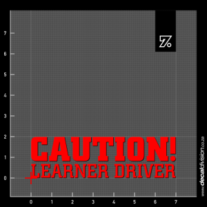 Caution Learner Driver Sticker - Stacked