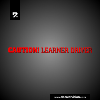 Caution Learner Driver Sticker