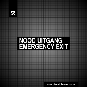 Emergency Exit Nood Uitgang Sticker - Stacked