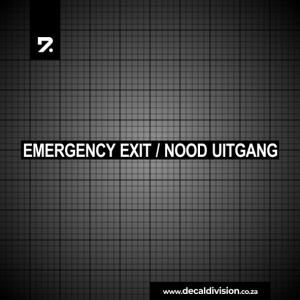 Emergency Exit Nood Uitgang Sticker