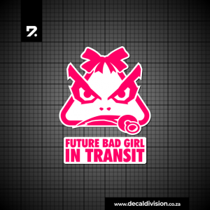 Future BADGIRL in transit Sticker