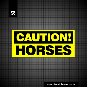 Horse Trailer Caution Sticker