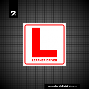 Learner Driver Sticker D