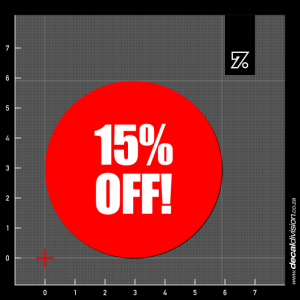 15% Off Stickers - Disc