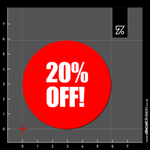 20% Off Stickers - Disc
