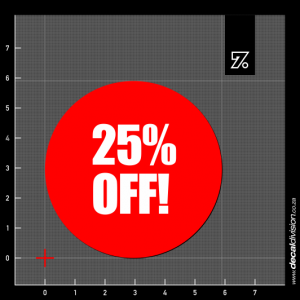 25% Off Stickers - Disc