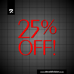 25% Off Text Sticker - Exotic