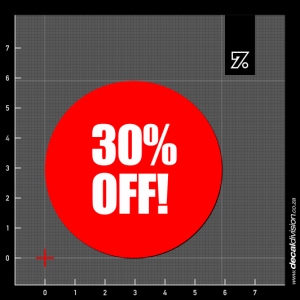 30% Off Stickers - Disc