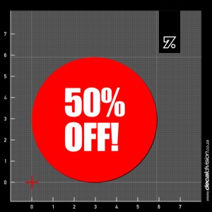50% Off Stickers - Disc