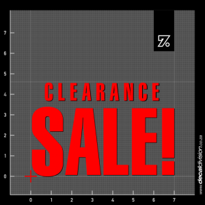 Clearance Sale Text Sticker - Compact