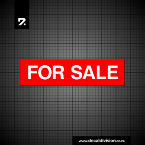 For Sale Sticker - Property