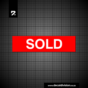 Sold Sticker - Property