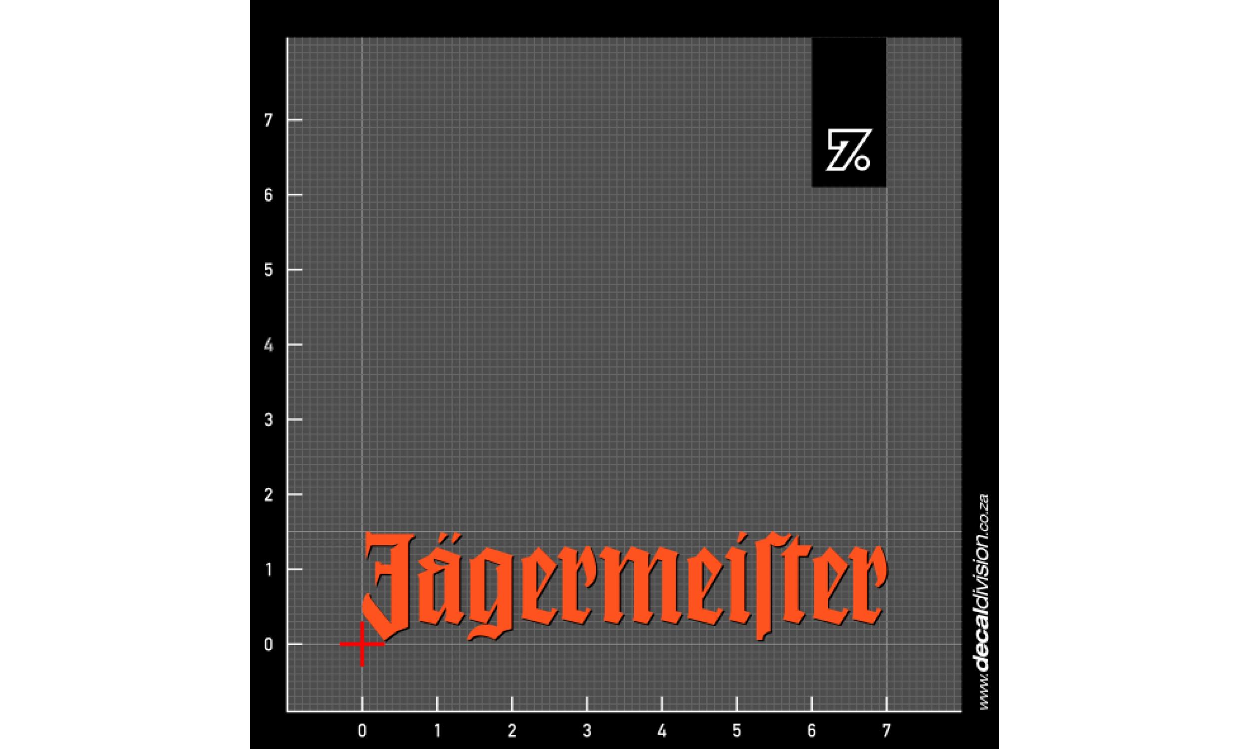 Jagermeister Logo Sticker