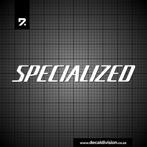 Specialized Logo Lettering Sticker