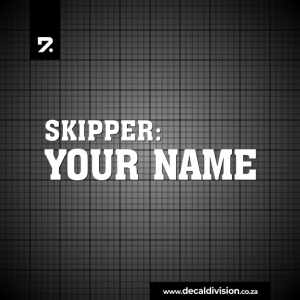 Boat Skipper Name Sticker