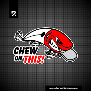 Chew on this lure sticker