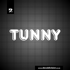 Tunny Fishing Ski Logo Sticker