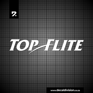 Top Flite Logo Sticker