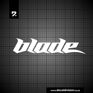 Blade Logo Sticker