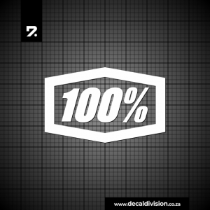 100 Percent Logo Sticker