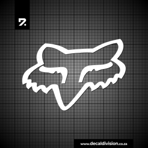 Fox Head Logo Sticker