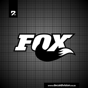 Fox Shox Logo Sticker