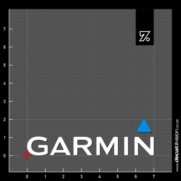 Garmin GPS Logo Sticker
