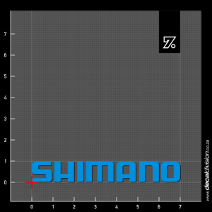 Shimano Logo Text Sticker