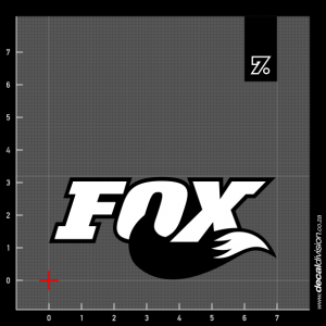Fox Racing Shox Logo Sticker