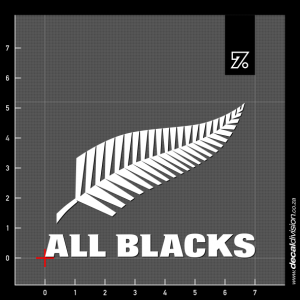 New Zealand All Blacks Logo Sticker