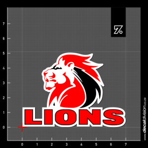 Lions Logo Sticker