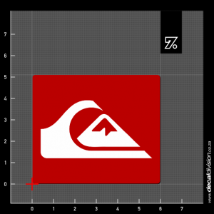 Quiksilver Logo Sticker - Badge