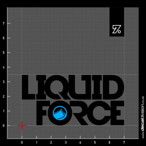 Liquid Force Logo Sticker - Stacked